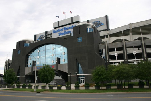 Bank of America Stadium in Charlotte, NC - Home of the Carolina Panthers